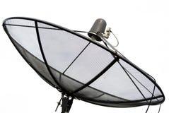 盘例证查出的卫星向量白色 免版税库存照片