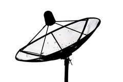 盘例证查出的卫星向量白色 库存照片