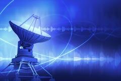 盘例证查出的卫星向量白色 向量例证