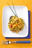 盘典型肉菜饭的西班牙语 免版税库存图片