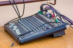 盘区音频控制 免版税库存图片