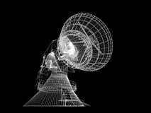 盘卫星 向量例证