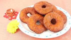 盘印第安甜点 免版税库存图片