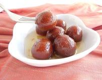 盘印第安甜点 免版税图库摄影