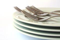 盘和叉子 图库摄影