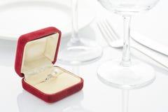 盘和珍珠环形 免版税图库摄影