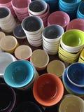 盘和碗 库存图片
