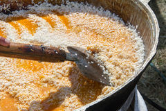 盘国家肉饭乌兹别克语 ri一个中东或印地安盘  免版税库存照片
