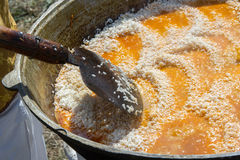 盘国家肉饭乌兹别克语 ri一个中东或印地安盘  免版税图库摄影