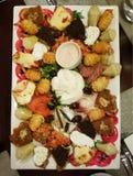 盘子用混杂的开胃菜 图库摄影