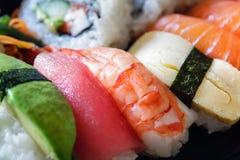 盘寿司 库存照片