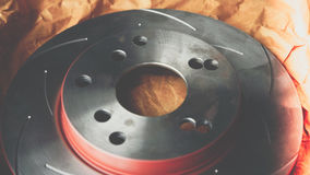 盘式制动器它是汽车用途的部分中止的汽车 免版税库存图片
