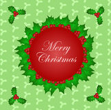 盘旋与圣诞节圣洁叶子和样式背景 库存例证