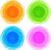 盘旋五颜六色的被画的现有量铅笔 库存照片