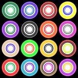 盘旋五颜六色的迪斯科聚会模式 库存照片