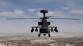 盘旋在天空的亚帕基直升机 皇族释放例证