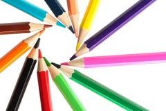 盘旋彩色插图铅笔向量 免版税库存照片