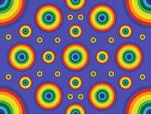 盘旋彩虹 向量例证