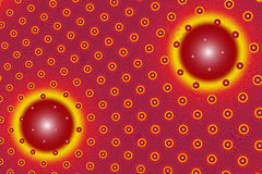 盘旋红色黄色 向量例证