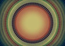 盘旋葡萄酒背景,于中心集中的圆的框架 向量例证