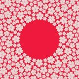 盘旋边界框架与许多重复的不同的大小的春天樱桃花 免版税库存图片