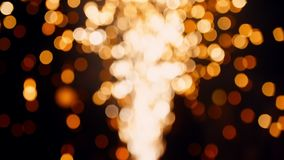 盘旋bokeh被弄脏的金烟花行动光抽象背景 影视素材