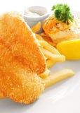 盘油煎的鱼食物油煎西部 库存图片