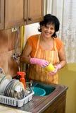 盘洗涤物 免版税库存照片