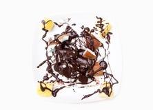 盘用混杂的果子和巧克力 免版税库存图片