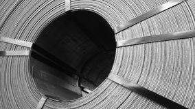 盘绕钢 免版税图库摄影