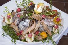 盘食物充分的海运 免版税图库摄影