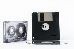 盘,磁带和软盘 免版税库存照片