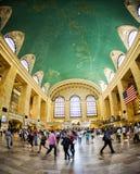 盛大中央驻地的,纽约乘客 库存图片