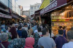 盛大义卖市场在伊斯坦布尔 免版税库存照片