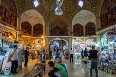 盛大义卖市场在德黑兰市,伊朗 免版税库存照片
