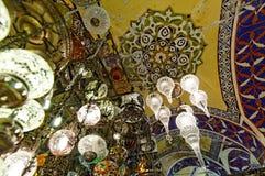盛大义卖市场天花板在伊斯坦布尔 免版税库存照片