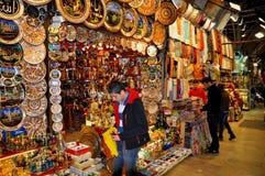 盛大义卖市场,伊斯坦布尔,土耳其 库存图片
