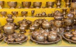 盛大义卖市场,认为在历史的最旧的商城与1200首饰,地毯 图库摄影