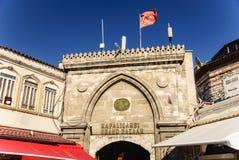 盛大义卖市场,主闸,伊斯坦布尔,土耳其 免版税库存图片