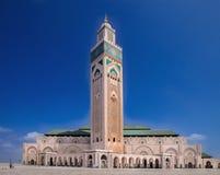 盛大其次哈桑清真寺在卡萨布兰卡,摩洛哥 免版税库存照片