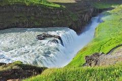 盛大古佛斯瀑布 冰岛 免版税库存照片