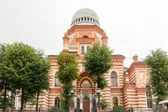 盛大合唱犹太教堂在圣彼德堡 图库摄影