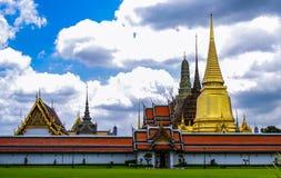 盛大宫殿和曼谷玉佛寺,曼谷,泰国 库存照片