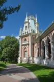 盛大宫殿在Tsaritsyno公园,莫斯科,俄罗斯 图库摄影