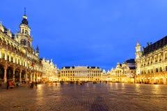 盛大宫殿或格罗特Markt在布鲁塞尔,比利时 免版税库存照片