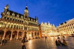 盛大宫殿或格罗特Markt在布鲁塞尔,比利时 库存照片
