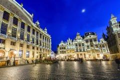 盛大宫殿或格罗特Markt在布鲁塞尔,比利时 免版税库存图片
