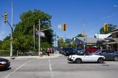 盛大弯,安大略,加拿大- 2016年7月02日:交通和汽车在 免版税库存照片