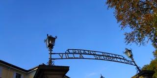 盛大旅馆,别墅Serbelloni 免版税库存照片