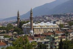 盛大清真寺、Ulucami和伯萨风景 库存照片